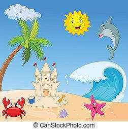 夏, 浜, 漫画
