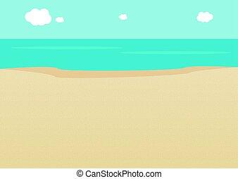 夏, 浜, 空, 海