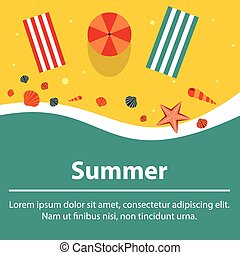 夏, 浜, 背景