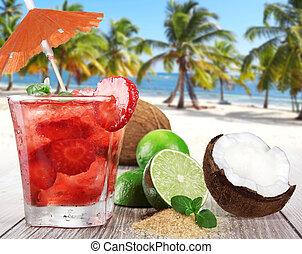 夏, 浜, 飲み物