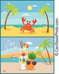 夏, 海岸, 休暇, 休日, 海岸, 浜, ∥あるいは∥