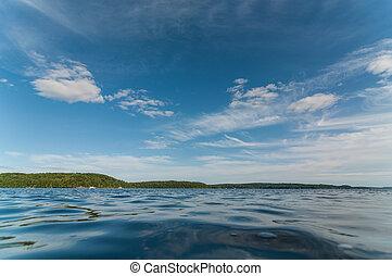 夏, 湖, カナダ
