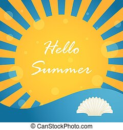 夏, 特別, デザイン, 背景, こんにちは