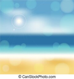 夏, 砂, 空, 日, 海