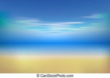 夏, 背景, 砂, 空, 海, 白