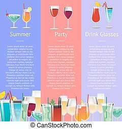 夏, 飲みなさい, 酒精飲料, パーティー, ガラス