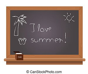 夏, 黒板, 愛, テキスト