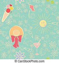 夏, seamless, 手ざわり, パターン