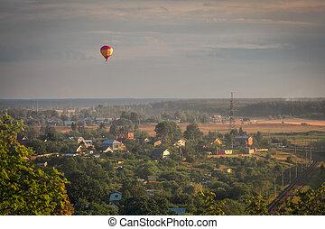 夕方, フライト, balloon