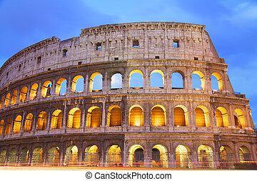 夕闇, ローマ, coloseum