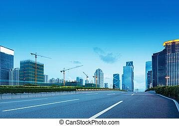 夕闇, 道, guangdong, 街灯