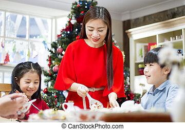 夕食, クリスマス, 中国語