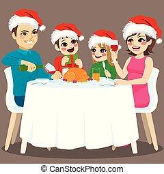 夕食, クリスマス, 家族