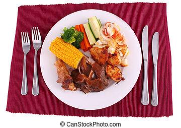 夕食, フルである, 焼き肉