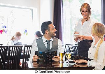 夕食, 人々ビジネス, 命令