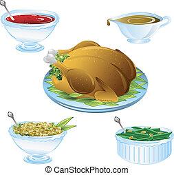 夕食, 感謝祭, アイコン