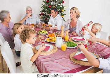 夕食, 持つこと, クリスマス, 家族