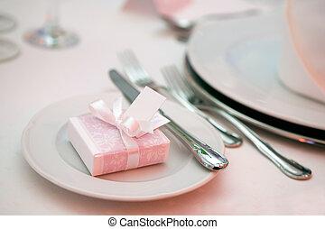 夕食, 結婚式