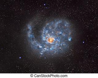外の, らせん状に動きなさい, 銀河, スペース