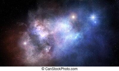 外の, 星雲, スペース