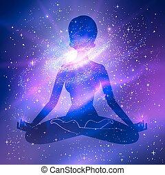 外の, meditation., space.