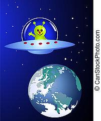 外国人, 地球, 訪問