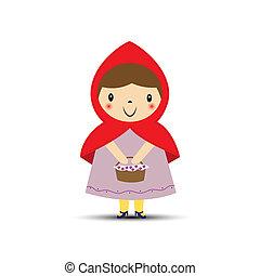 外套, ∥(彼・それ)ら∥, 手, バスケット, 女の子, 赤