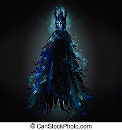 外套, 悪, ぼろを着ている, ベクトル, 黒, 精神