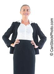 外形, 漂亮, 角度, businesswoman, 形成, 低, 察看