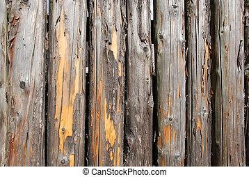 外気に当って変化した, 木材を伐採する, 背景