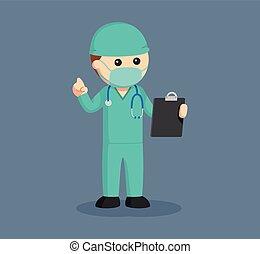 外科医, マレ, クリップボード