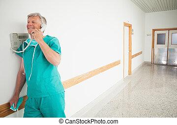 外科醫生, 藏品, a, 電話