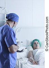外科醫生, 要求, 病人, 一些, 問題