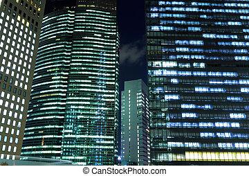 外面, の, 現代建物