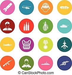 多くの色, セット, 戦争, アイコン
