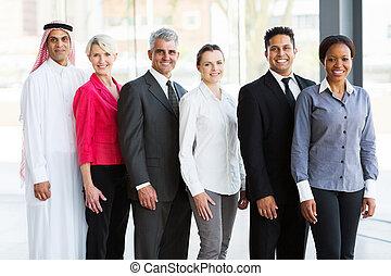 多人種である, ビジネスオフィス, チーム