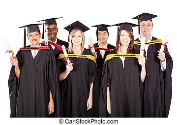 多人種である, 白, グループ, 卒業生