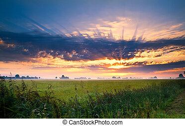 多彩な日の出