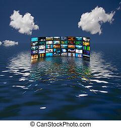 多数, スクリーン, ∥反映する∥中にいる∥, 水
