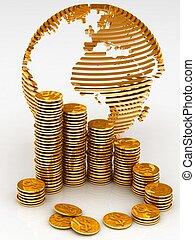 多数, 地球, コイン, 金