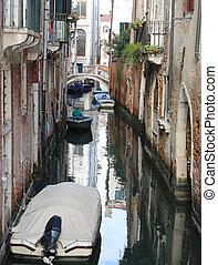 多数, 家, 近くに, ∥, narrow, 水 方法, 中に, ベニス イタリア