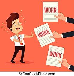 多数, 忙しい, 特徴, work., 人