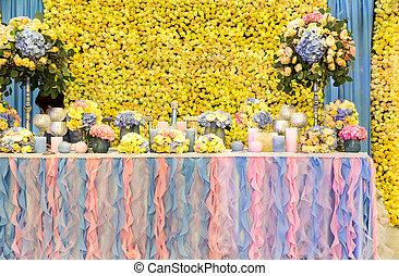 多数, 花束, テーブル