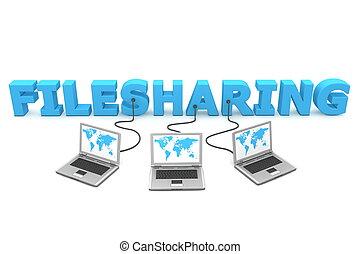 多数, 配線された, filesharing