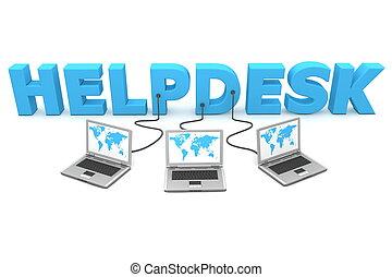 多数, helpdesk, 配線された