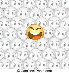 多数, smiley, イラスト, 1(人・つ), ベクトル, smiles.