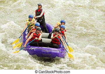 多数, whitewater の いかだで運ぶこと, 旅行, 家族