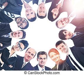 多样化, 团体, copyspace, 人们