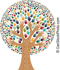 多様性, 木, 隔離された, 手