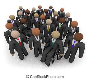 多様, グループ, ビジネス 人々